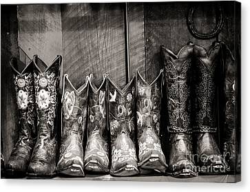 Boots Canvas Print by Sherry Davis