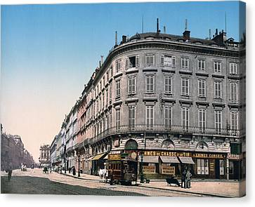 Bordeaux - France - Rue Chapeau Rouge From The Palace Richelieu Canvas Print