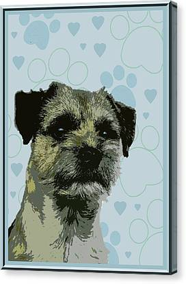 Border Terrier Canvas Print by One Rude Dawg Orcutt