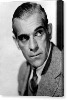 Boris Karloff, Ca 1939 Canvas Print by Everett