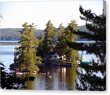 Boshkung Lake Island Cottage Canvas Print