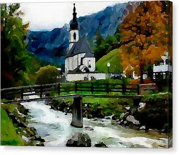 Bosnian Country Church Canvas Print by Jann Paxton