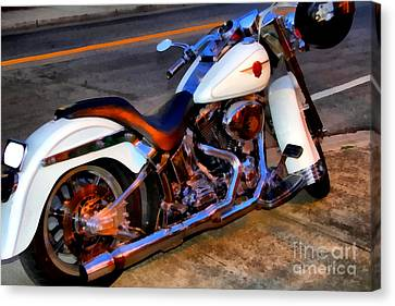 Boss Hog . Harley-davidson .  7d12757 Canvas Print by Wingsdomain Art and Photography