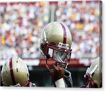 Boston College Helmet Canvas Print by John Quackenbos