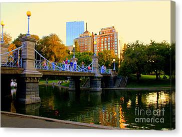 Boston From The  Bridge Canvas Print