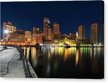 Boston Harbor Skyline  Canvas Print