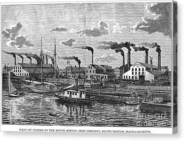 Boston: Iron Foundry, 1876 Canvas Print by Granger