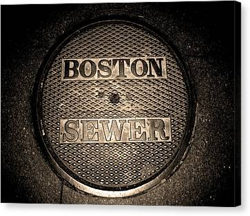 Boston Sewer Canvas Print by Sheryl Burns