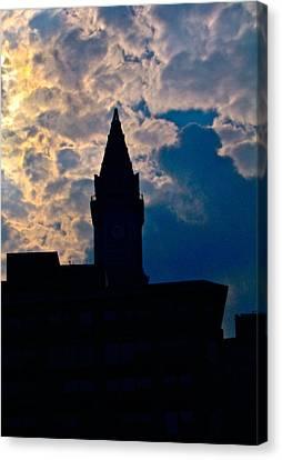 Boston Sky Canvas Print by Frank SantAgata