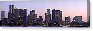 Boston Skyline At Sunset Canvas Print by Sebastien Coursol