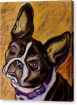 Canvas Print featuring the painting Boston Terrier by D Renee Wilson