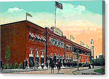 Boston's Fenway Park In 1914 Canvas Print by Dwight Goss