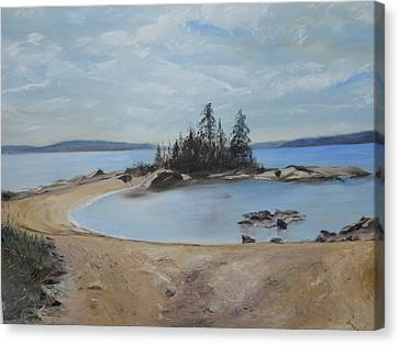 Boswell's Point-lake Superior Canvas Print by Joyce Reid