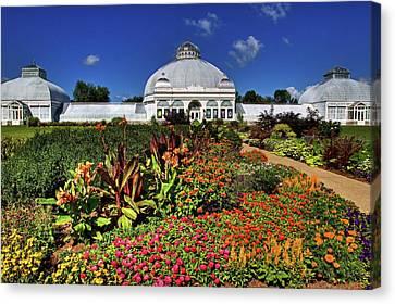 Canvas Print featuring the photograph Botanical Botanical Gardens by Don Nieman