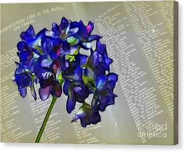 Botany Book Canvas Print by Judi Bagwell