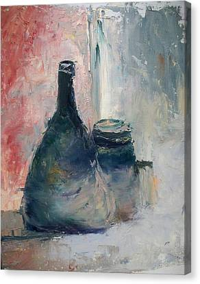 Bottle And Jar Canvas Print by Sarah Farren