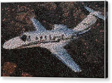Bottle Cap Cessna Citation Mosaic Canvas Print by Paul Van Scott
