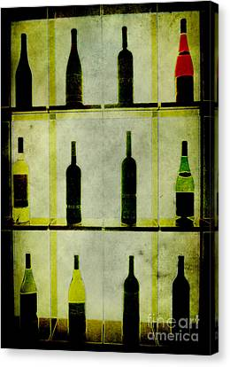 Bottles Canvas Print by Alexander Bakumenko