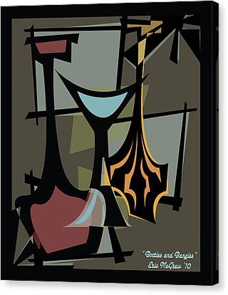 Bottles And Bangles  Canvas Print by Eric  McGrew