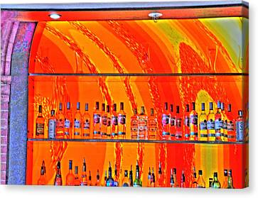 Bottles Canvas Print by Barry R Jones Jr