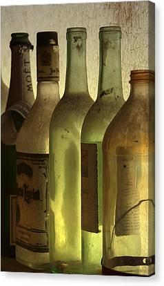 Bottles Still Canvas Print by Kelly Rader