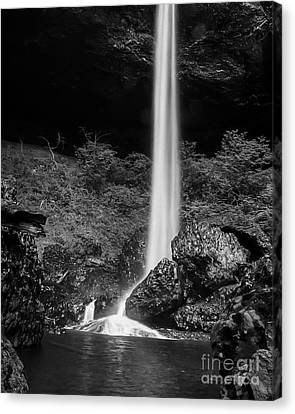 Bottom Of North Silver Falls Canvas Print by Darcy Michaelchuk