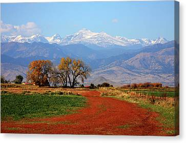 Boulder County Colorado Landscape Red Road Autumn View Canvas Print by James BO  Insogna