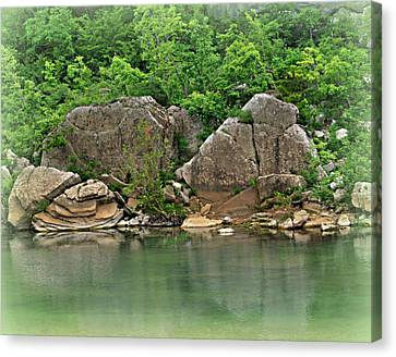 Boulders In The Buffalo Canvas Print by Marty Koch