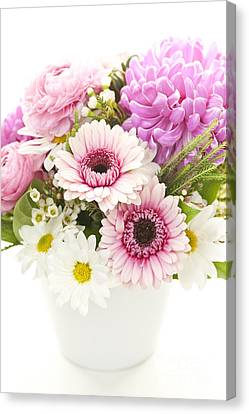 Bouquet Of Flowers Canvas Print by Elena Elisseeva