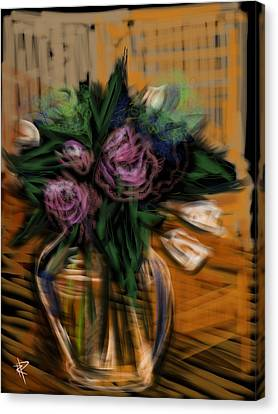 Bouquet Canvas Print by Russell Pierce