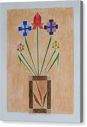 Canvas Print featuring the painting Bouquet by Sonali Gangane