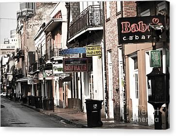 Leda Canvas Print - Bourbon Street by Leslie Leda