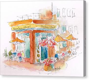 Bourbon Street Restaurant In Bend Canvas Print by Pat Katz