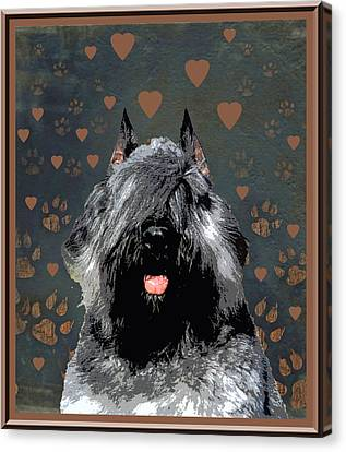 Bouvier Des Flandres Canvas Print by One Rude Dawg Orcutt