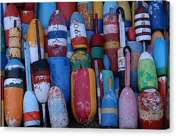 Bouys No Gulls Canvas Print by Mike Martin