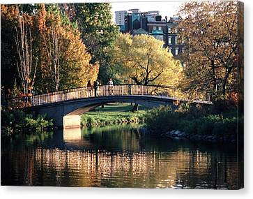 Bow Bridge Back Bay Boston Canvas Print