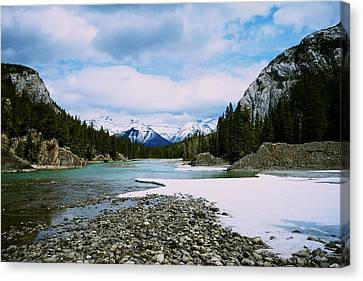 Bow River Canvas Print by Aaron Fisher