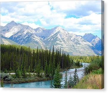 Bow River Near Canmore Alberta Canvas Print