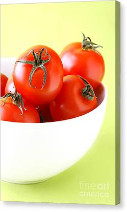 Bowl Of Tomatoes Canvas Print by HD Connelly