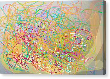 Bows And Flows Of Angel Hair Canvas Print by Naomi Jacobs