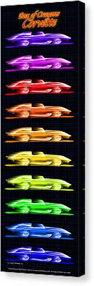 Canvas Print featuring the drawing 1959 Stingray Box Of Crayons by K Scott Teeters