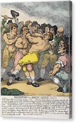 Fistfight Canvas Print - Boxing Match, 1812 by Granger