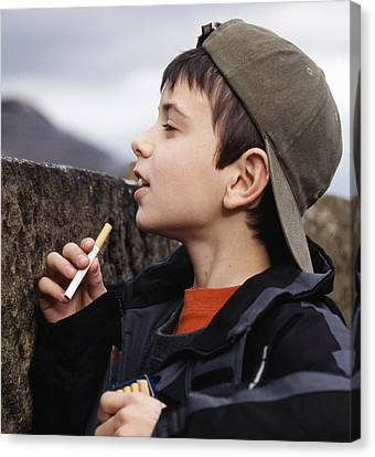 Boy With Cigarettes Canvas Print
