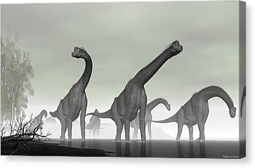 Brachiosaurus Canvas Print by Walter Colvin