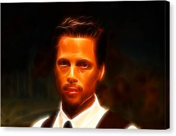 Brad Pitt II  Canvas Print by Lee Dos Santos