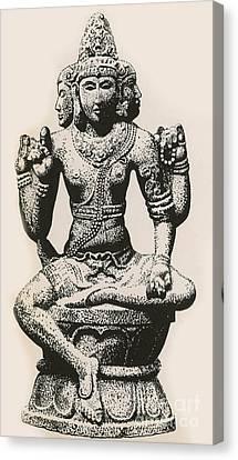 Brahma, Hindu God Canvas Print by Photo Researchers