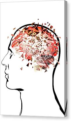 Brain Shattering Canvas Print by MedicalRF.com