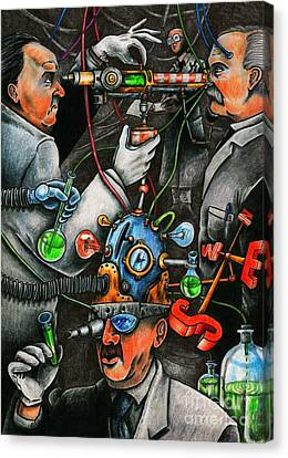Brain Wars Canvas Print