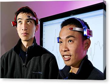 Brainwave-reading Headset Canvas Print