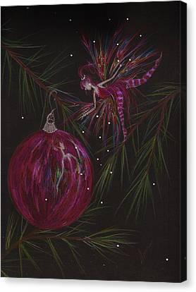 Branch Balance Canvas Print by Dawn Fairies